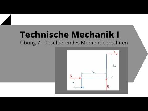 Resultierendes Moment berechnen, mehrere Kräfte, Vektorprodukt - Technische Mechanik 1, Übung 7