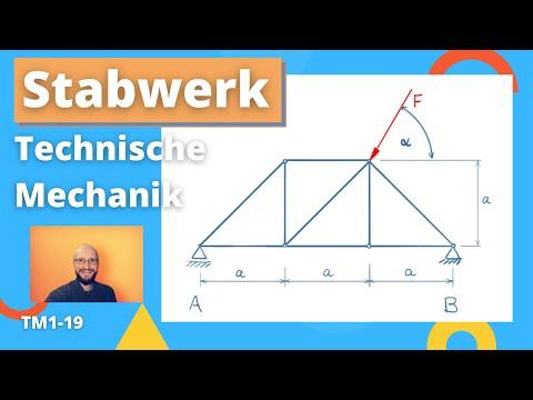 Technische Mechanik 1, Übung 19 - Stabwerk