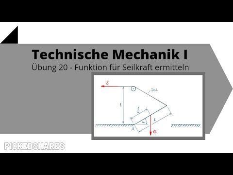Funktion für Seilkraft ermitteln - Technische Mechanik 1, Übung 20
