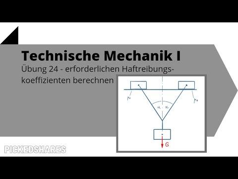 Erforderlicher Haftreibungskoeffizient für Gleichgewichtszustand - Technische Mechanik 1, Übung 24