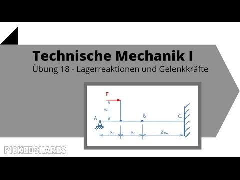 Reaktionskräfte bestimmen - Technische Mechanik 1, Übung 18
