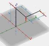 Rahmen mit angreifenden Kräften, dreidimensional