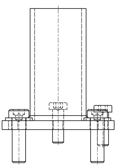 Maschinenfuß Variante 2 - mit Niveausgleich