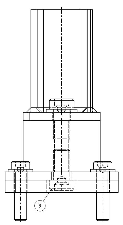 Maschinenfuß Variante 5 - mit Gummipuffer